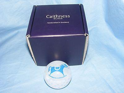 Caithness Glas Briefbeschwerer Schaukelpferd Baby Taufe Anwesend