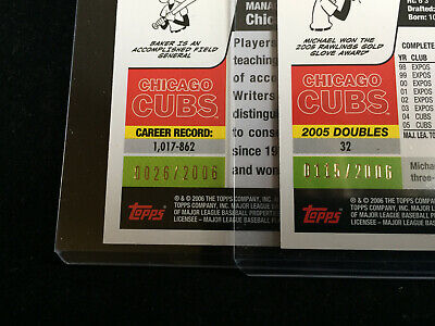 2006 Topps Lot of 27 Chicago Cubs: Maddux, Barrett, GOLD Serial, Rich Hill RC 10