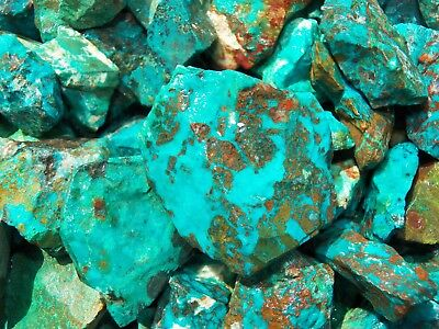 1000 Carat Lots of  Chrysocolla & Turquoise Rough - Plus a FREE Faceted Gemstone 7