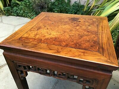 2 RARE ANTIQUE CHINESE HUANGHUALI WOOD SIDE TABLE  wood asian art chair 3