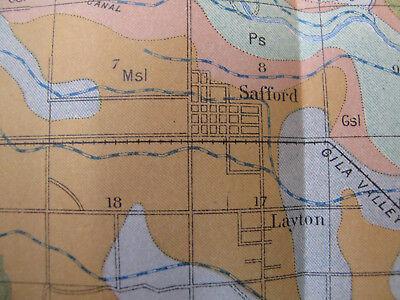 Color Soil Survey Map Solomonville Arizona Safford Thatcher Pima Central 1903 3