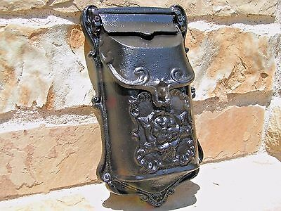 Cast Iron Reproduction mailbox suggestion box Black Victorian style 2