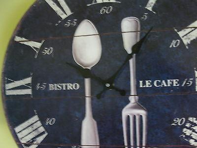 Large Wall Clock 35 cm Nostalgic Clock Antique style Kitchen clock Cutlery 2