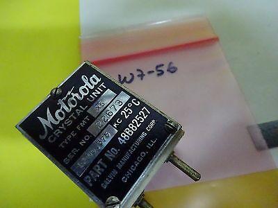 Antique Quartz Radio Crystal U.s. 1944 Motorola Wwii Frequency Control #W7-56 8