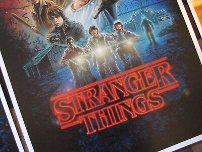 """Stranger Things (11"""" x 17"""")  Collector's Poster Prints  ( Set of 3 ) 4"""