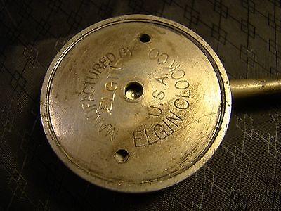 Vintage Elgin Car Clock Pocket Watch Long Stem Case Face Glass Parts or Repair 7