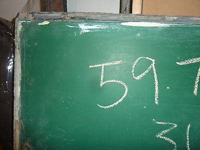 "antique ORIGINAL circa 1920's schoolhouse SLATE chalkboard 59.75 x 36"" UTICA, NY 2"