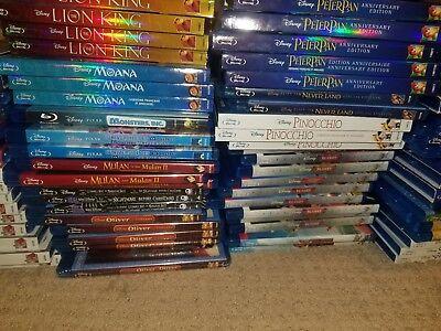 Walt Disney & Disney Pixar Blu Ray Toy Story Bambi Lion King Cinderella Mermaid 3