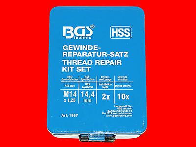 M14 HSS-G Profi Gewinde Reparatur Werkzeug Helicoil inkl. 30 Gewindehülsen B1957 4