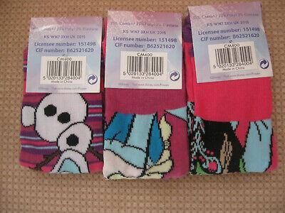 Pack of 3 Girls Frozen Socks, sizes 6-8.5, 9-12,12.5-3.5 2
