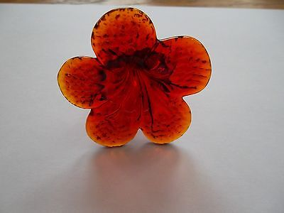 rare pretty and unusual handmade RED glass flower chandelier drop(RJ71) 4