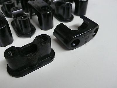 10 St. Bakelitschellen Aufputzschellen Kabelschellen Neu DDR 8-18 mm + Schrauben 2