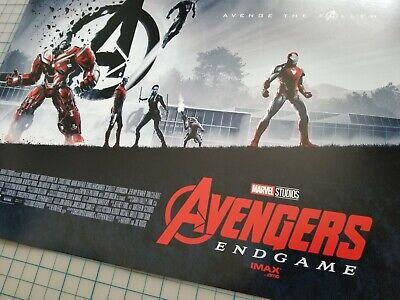 """Brand New AVENGERS ENDGAME WEEK 1 AMC IMAX MINI POSTER 11"""" x 15.5 """" RARE Marvel 3"""