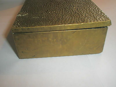 Vintage 1910 Apollo Studios NY Hammered Copper Arts & Crafts Wood Lined Desk Box 6