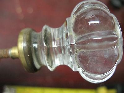 Vintage Original  Polished Glass Pull /knob 1& 3/8  '' X 1& 5/8'' 4