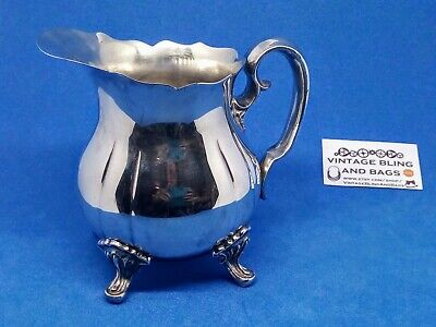 10x12cm Vintage SILVERPLATED creamer cream milk jug PILGRIM Taiwan tea coffee 2
