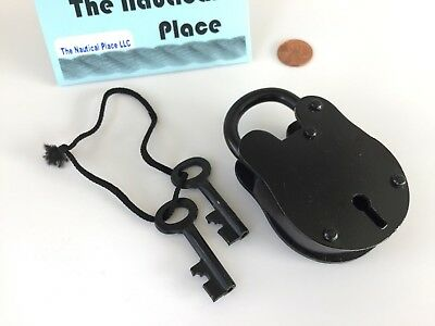 Iron Lock & Keys ~ Old Vintage Antique 1800s Style ~ Police Jailer Padlock 2