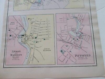 1902 03 Antique Map Stuart S Maine Atlas Westbrook Pittsfield