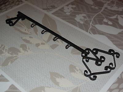 Antique French wrought iron key holder  (4 hooks) 2