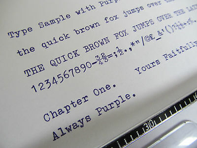 1 x 'CORONA FOLDING 3' *PURPLE* TYPEWRITER RIBBON *MANUAL REWIND + INSTRUCTIONS*