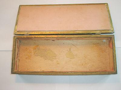 Vintage 1910 Apollo Studios NY Hammered Copper Arts & Crafts Wood Lined Desk Box 9