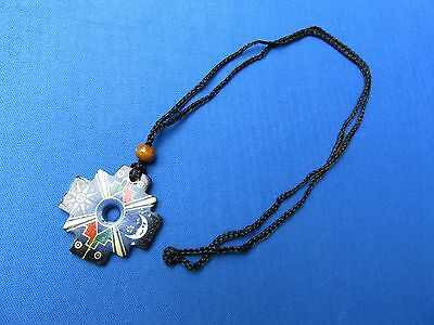 South american inca cross ceramic necklace chakana w designs 2 of 3 south american inca cross ceramic necklace chakana w designs from peru g aloadofball Images