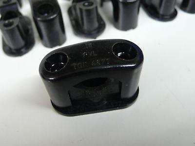 10 St. Bakelitschellen Aufputzschellen Kabelschellen Neu DDR 8-18 mm + Schrauben 3