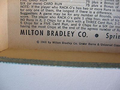 Vintage Milton Bradley Racko Game 1961 Complete 1580 Picclick