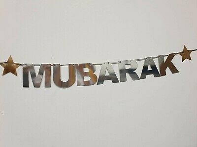 Eid Mubarak Allah Mohammad Islamic Banner Bunting Mawaddah Gold HANDMADE IN UK