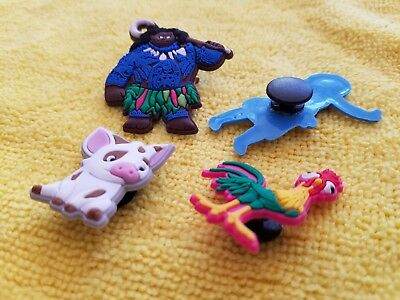 MOANA shoe charms/cake toppers!! Set of 4!! FAST USA SHIPPING!! 3