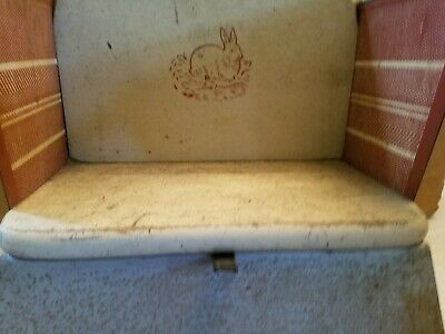 Antique Vintage Metal & Wood Oak Hill Co. Toddlers/Doll Rocker Playchair 4