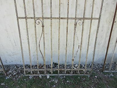 Antique Victorian Iron Gate Window Garden Fence Architectural Salvage Door #371 4