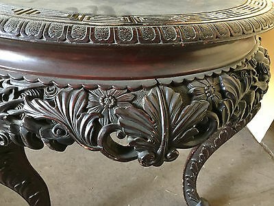 "ANTIQUE CHINESE CARVED TABLE STAND  36"" Diameter  ""T875"" 10"