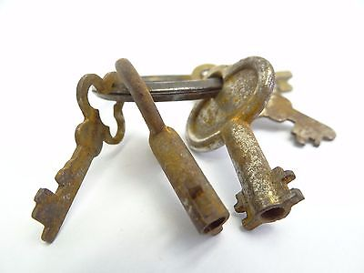 Antique Brass Steel Eagle Lock Co Safe Cabinet Door Lock Keys Used Old Metal 9