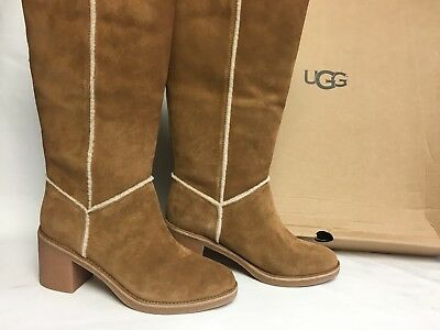 f11ad264df4 UGG AUSTRALIA KASEN Tall Suede Knee High Boot 1018937 Chestnut Women's  Shoes ~