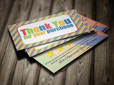 100 ebay Seller THANK YOU Business Cards 5 Five Star Feedback COLORFUL Fun NEW 5