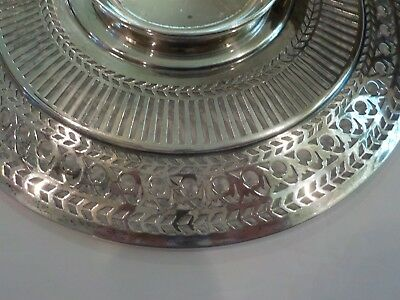 "Watson Sterling Silver Reticulated 8"" Sandwich/Dessert Plate / Tray, #4558 6"