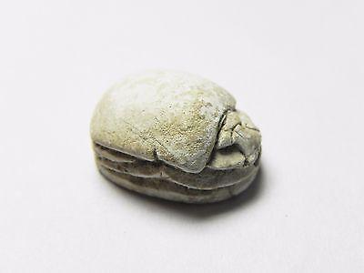 Zurqieh -Cy75- Ancient Egypt , Elegant Steatite  Scarab. New Kingdom .1400 B.c 2