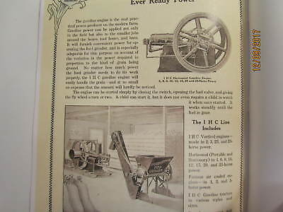 1910s International Harvester Feed Grinders Catalog Manual Gas Engine too 4