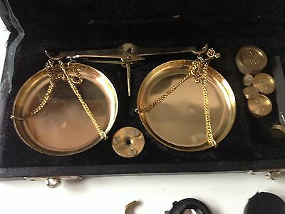 Feinwaage Goldwaage antik Anfang 19. Jahrhundert 4