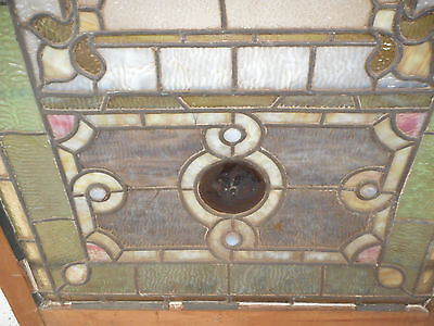 Vintage Stained Glass Window Panel (2939)NJ 9