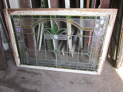 ~ Antique American Stained Glass Window Arts & Crafts ~ Architectural Salvage ~ 9