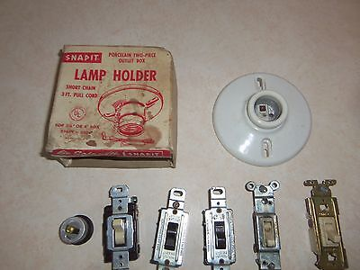 Large Lot of Vintage Electrical 5 Pieces NOS in Original Boxes 2