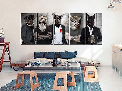 WANDBILDER XXL TIERE Hunde Menschen Leinwand Bilder ...