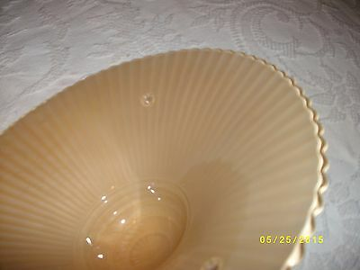 Vintage or antique glass ceiling light fixture shade 3 hole tan rope drape 7