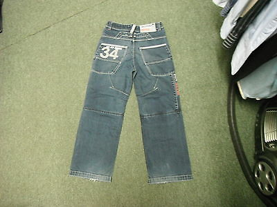 "Next Relaxed Jeans Waist 26"" Leg 24"" Faded Dark Blue Boys 11 Yrs Jeans 3"