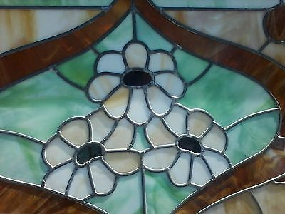 Georgous Stained Glass Window--Framed in Antique Barn Wood 3