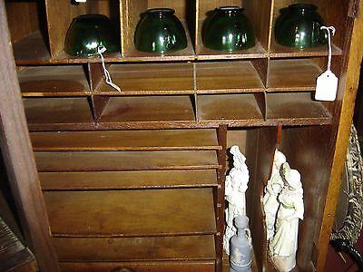 Large Antique Oak Cubbyholes                      8144 4