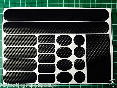 LARGE Carbon Effect Frame Chainstay Patch Rubbing Protection Set DH BMX