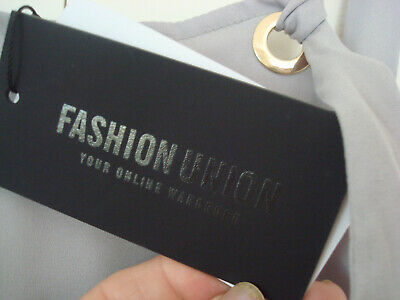 ~ UNION ~ Bib & Brace DUNGAREE TOP & PLEATED SKIRT Pinafore DRESS Grey 12 BNWT 4